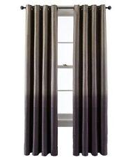 $90 Studio Dylan Grommet Top Window Curtain Panel Beige Purple Plum 50 X 95