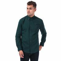 Mens Ben Sherman Small Gingham Shirt In Green- Long Sleeve- Gingham Detail