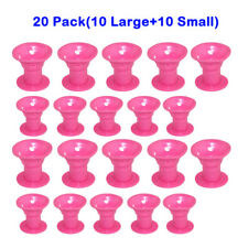 20pcs Silicone Hair Curler Magic Hair Care Rolers Soft DIY Hairstlye Tool PK