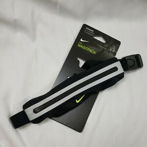 NEW NIKE Slim Running Waist Pack Adjustable Black/Neon/Reflective Silver
