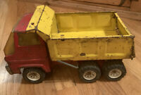 Vintage Tonka 1974 Dump Truck Pressed Steel Red and Yellow Read Description Rare