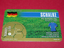 RARE FOOTBALL CARD FOOT2PASS 2010-2011 FC SCHALKE 04 FUSSBALL BUNDESLIGA