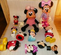 Mickey Mouse Toy Lot Minnie Vintage Baby Mostly plastic, one plush, some parts