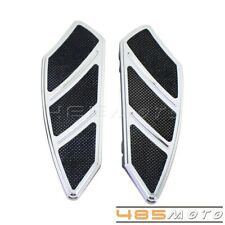 Chrome Motorcycle Rider Footpeg Foot Board Floorboard For Harley Touring Sotail