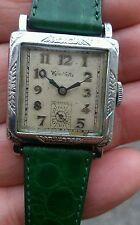 RARO E STUPENDO WILER VETTA INCASSABLE ART DECO INOX 15 JEWELS