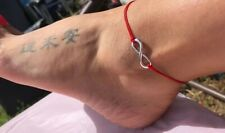 For Ankle Silver Infinity Red STRING KABBALAH LUCKY BRACELET