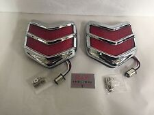 1940 FORD LED Tail Lights With Bezels Pair Hot Rod Flush Style PASSENGER CAR
