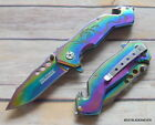 RAINBOW DRAGON DESIGN TACTICAL TACFORCE SPRING ASSISTED KNIFE - 7.75 INCH