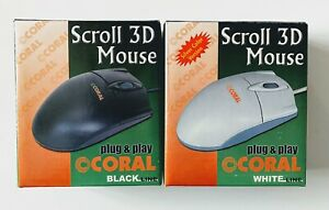 Vintage New PS/2 Scroll 3D Ball Mouse, Retro