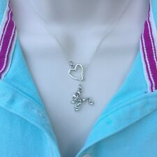 I Love Frog Handcrafted Silver Lariat Style Y Necklace.