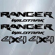 Ford Ranger Wildtrak 4x4 Decal Sticker Set en Negro 290mm X 55mm