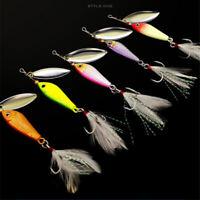5pcs 7g/10g/15g/20g Vivid Metal VIB Fishing Lures Rotating Spinner Bass Walleyes