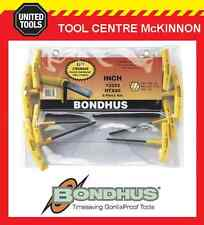 BONDHUS 13332 8pce IMPERIAL T-HANDLE HEX ALLEN KEY SET – MADE IN USA