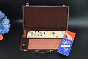 Rummy Game in Case Vintage RUMM-EEE Portable Set 41x21 cm RETRO Brown Vinyl Case