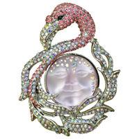Kirks Folly Goddess Seaview Moon Flamingo In Wonderland Pin Pendant (Silvertone)