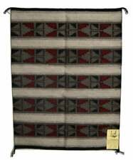 """Native American Navajo Indian Handwooven Rug 27"""" x 36"""" With Certeficate of Auth"""