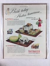 Vintage 1950 Toastmaster Appliances Art Print Collectible Ad 10.5 x 14