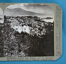 Stereoview Photo Italy Outlook Over Naples Towards Smoking Vesuvius Realistic