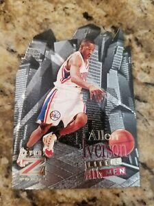 Allen Iverson 1996-97 Skybox Z-ForceLittle Big Men #5 Rookie Die-Cut Insert RC
