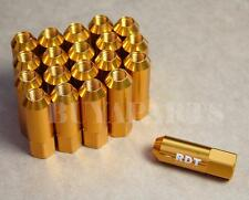 JDM 20 GOLD 60MM ALUMINUM EXTENDED TUNER LUG NUTS LUGS FOR WHEELS/RIMS M12X1.5
