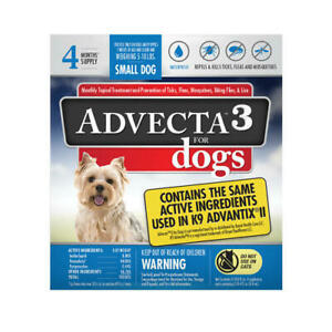 Advecta 3 for Small Dogs 5-10 lbs.4 Month Supply, Same as K9 Advantix II