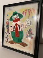 Vintage 1962 Clown No. 908 A Child Guidance Toy Magnetic Jigsaw Puzzle 16 Pieces