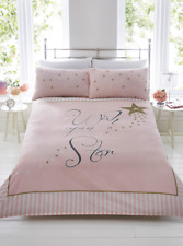 Rapport Wish Upon A Star Duvet Cover Bedding Set Pink & Gold