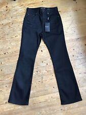 Saint Laurent Black High Waisted Jeans Size 25 Kick Flare BNWT