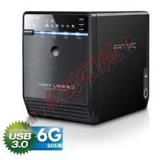 BOX FANTEC QB-35US3-6G 4 HARD DISK DRIVE ESTERNO USB 3 eSATA SALVATAGGIO DATI PC