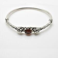 Celtic Lion Bracelet .925 Sterling Silver with Genuine Natural  Amber gemstone