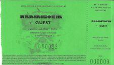 RARE / TICKET BILLET DE CONCERT - RAMMSTEIN : LIVE LYON ( FRANCE ) 1998