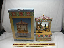 New Moving Carousel Horse Mirrored Dresser Music Box NIB