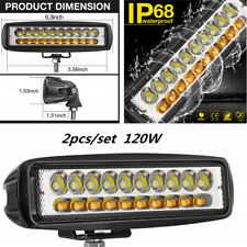 120W LED Work Light Bar Flood Beam Offroad Driving Fog Lamp SUV Car Truck Boat