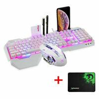 K618 RGB Gaming Keyboard + Gamer Mouse Sets Wired Multimedia LED Backlit 2400DPI