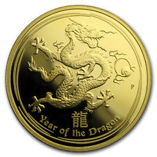 2012 Australia 1 oz Gold Lunar Dragon Proof (SII, w/o Box) - SKU#161551