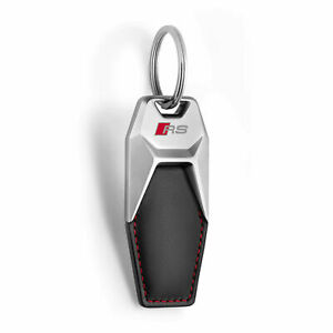Audi Leather Keyring RS 3181900701 Pendant Cowhide Genuine New