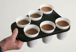 1 Plastic Vending Cup Try Holder To Carry 6 HOT/COLD Drinks COFFEE/TEA Free P&P