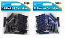 New Tiger Universal Black/Blue Ink Cartridges Fountain Pens/Office/School