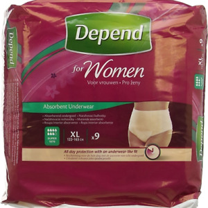 Depend Incontinence Pants Women Female Extra Large 9s