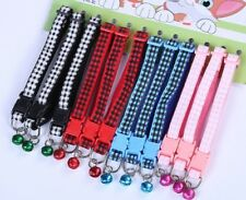 Tartan Nylon Dog Collars Puppy Little XS Small Tiny Strong Clip Pink Fashion UK