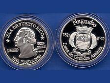 Silver PESETA NAGUABO 2009 Puerto Rico Boricua Quarter 1/100 Plata