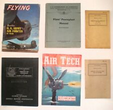 Lot of 6 Aviation Aiircraft Air Force WWII 1942 Air Tech Flyer Air Pilots Manual