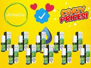iBreathe Liquid Menthol 10x10ml 3mg 6mg 12mg 18mg E Juice Vape Oils Ecig