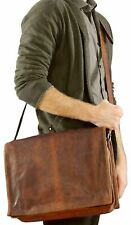 Cyber Monday Leather Messenger Shoulder Bag Men Satchel Laptop School Briefcase