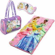 Disney Princesse Soirée Pyjama Couchage Sac / Poil Tapis Avec Et Bonus Eye