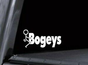 F* Bogeys Disc Golf Sticker Vinyl Decal - F Bogey Guy - Truck Car Window Stencil