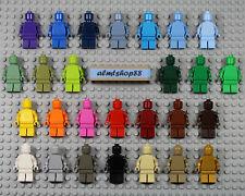 Genuine LEGO Brand - Monochrome Minifigure - Plain Solid Torso Legs Male Female
