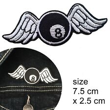 Billiard ball wings iron on patch - 8 balls Cue sports eightball iron-on patches