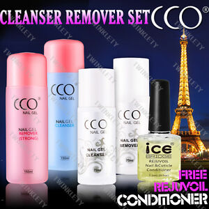 CCO Soak Off Wipes UV Nail Cleanser & Remover 75or150ml for any Brand Gel Polish
