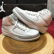 Nike Air Jordan II 2 Retro SILVER ANNIVERSARY 3M COOL GREY 385475-101 Size 10 XI